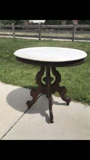 Vintage Oval Side Table - Restoration or Painting Project