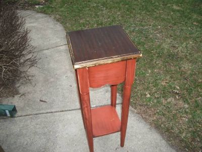 REDUCED....TABLE TALL ALL WOOD PIER 1