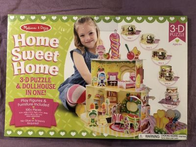 The Melissa and Doug Home Sweet Home 3-D Puzzle & Dollhouse In One