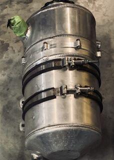 3 gallon Aluminum oil tank