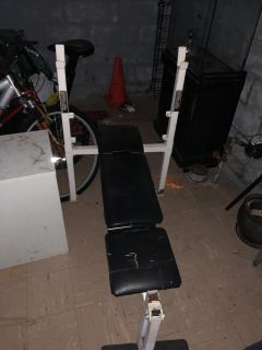 Weight bench and 1 bar