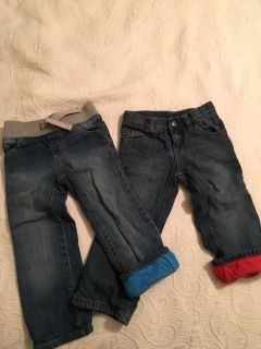 Boys lined jeans 2t