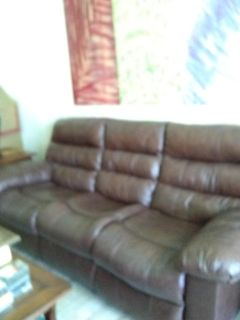"""!!!FREE!!! 88"""" LEATHER 3-SEATER DUAL RECLINER - + SO MUCH MORE FOR FREE!!!"""