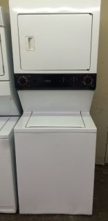 "GE 27"" Stackable Washer and Electric Dryer Unit"
