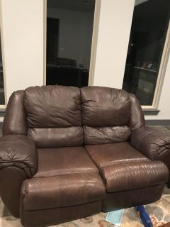Couch, love seat, recliner, two end tables and coffee table