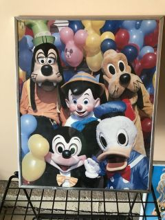 5 framed Disney picture posters