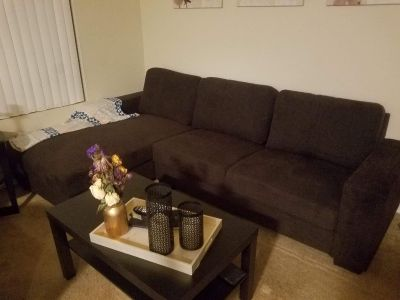 Living Spaces New Chaise Sofa