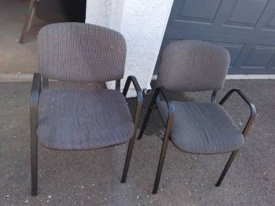2 Very light weight comfortable office chairs