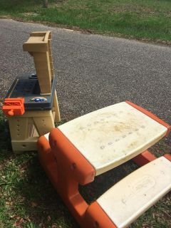 Tool bench and picnic table FREE