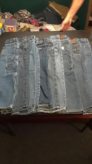 9 pair of boys jeans