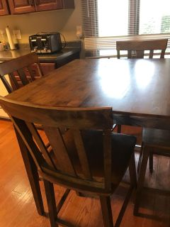 Counter top kitchen table