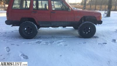 For Sale/Trade: Trade for gun(s) 1995 Jeep Cherokee 4.5 lift 31 mud terrain tires