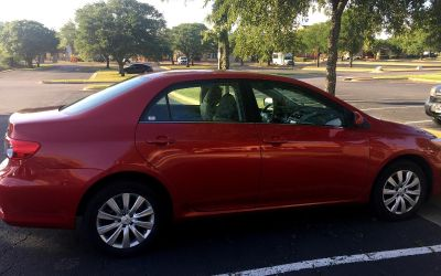 Toyota Corolla LE - 2013 - 69000 miles - Red color - 9900$ - Clean title - very good condition - slightly negotiable