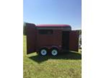 Tall Red 2 Horse Trailer