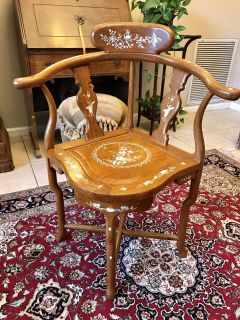 Oriental Chair with Mother-of-Pearl Inlays