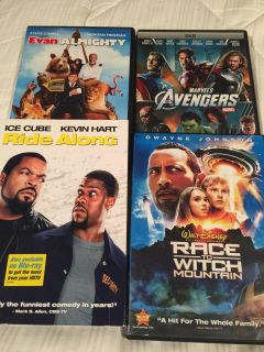 4 DVD s. Great movies