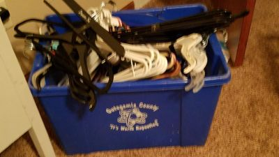 Tote of hangers