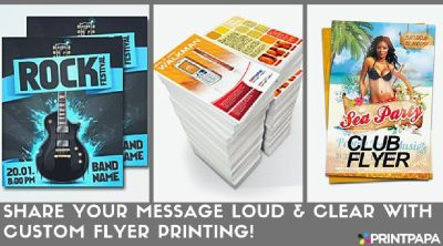 Get attractive and fun Flyers printed from PrintPapa