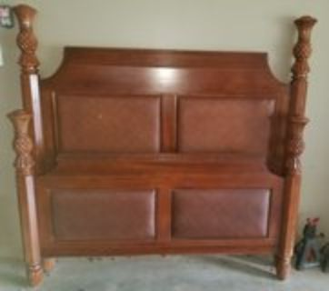 Queen size bed - rails and slats included