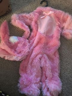Pink Bunny costume not used size 6-12 months