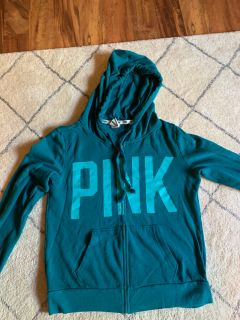 Victoria s Secret pink brand zip hooded sweatshirt