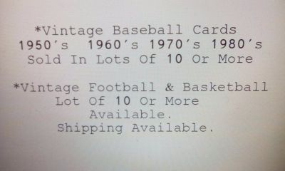 Vintage Sports Cards Baseball Basketball Football
