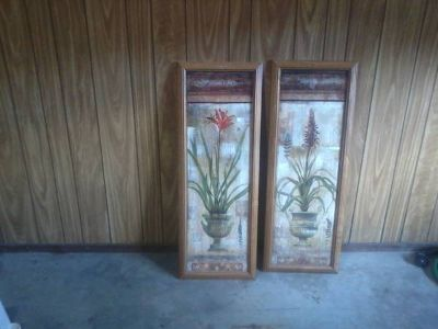 two 15x39 glass pictures