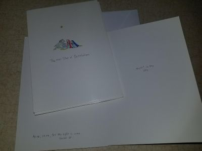 7 cards and envelopes