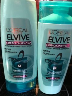Once Used L Or al Elvive Extraordinary Clay Rebalancing Shampoo & Conditioner