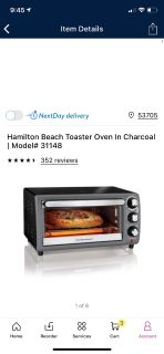 Brand new in box toaster oven