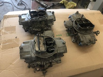 3 Holley Vac Sec Carbs all for $250