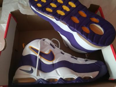 Nike Air Max Uptempo Lakers size 10.5