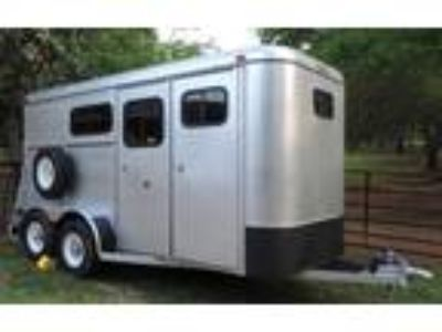 2002 Big Valley steel 2 horse bumper pull horse trailer