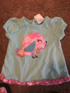 Nursery rhyme 3m light turq bird shirt - ppu (near old chemstrand & 29) or PU @ the Marcus Pointe Thrift Store (on W st)