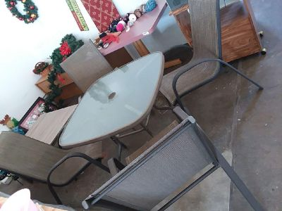 4 piece table with chairs patio set