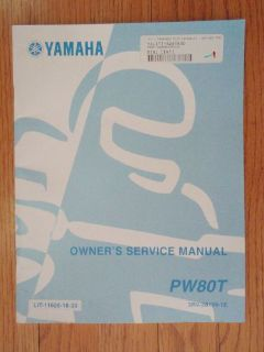 Find GENUINE YAMAHA PW80T MOTORCYCLE SERVICE MANUAL NEW motorcycle in Prior Lake, Minnesota, United States, for US $16.99