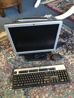 Hp computer, keyboard and mouse