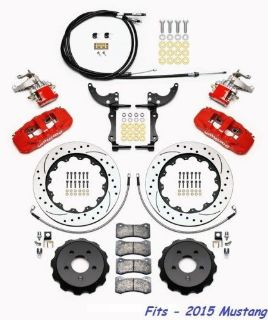 "Purchase Wilwood AERO4-MC4 Rear Parking Big Brake Kit Fits 2015 Mustang,14"" Rotors - Red motorcycle in Camarillo, California, United States, for US $1,969.00"