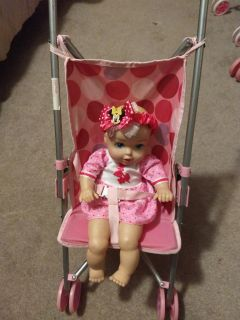 Beautiful Baby Doll with stroller