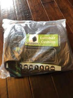 Washable new with tags and in bag brown lumbar cushion support