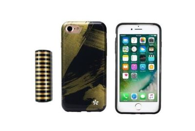 Wit & Delight iPhone 7 Phone Case and Power Bank (Abstract Paint Black)