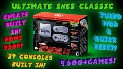 SNES Classic Loaded with all the old classic games! From Atari to N64!