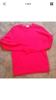 Hot pink Lilly Pulitzer cable sweater euc size xl