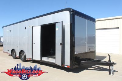"28' Auto Master+18"" Black-Out Silver LED Trailer Wacobi"
