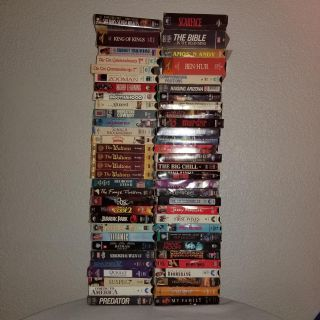 110 VHS tapes
