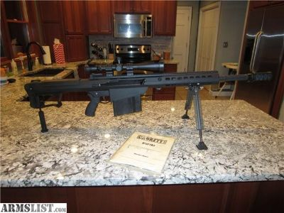 For Sale: Barrett M107A1 with scope (Mint Condition)