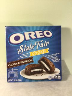 Oreo state fair chocolate crunch cookies, expiration October 2019