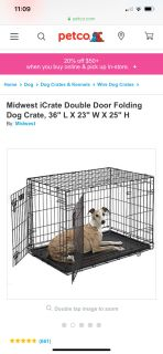 Dog crate.