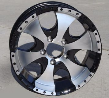 "Purchase (4) 15"" Aluminum Ion Black Wheel/Rim 5 on 4.5 (RV, Boat, Custom Trailer Wheels) motorcycle in Burley, ID, United States, for US $379.80"