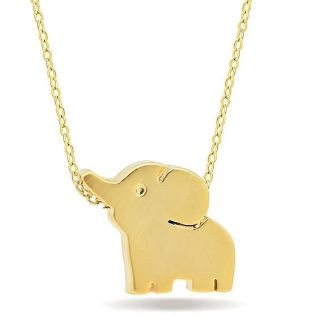 SMALL 9.25 STERLING SILVER ELEPHANT NECKLACE W/ 14K GOLD OVERLAY